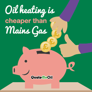 Oil heating is cheaper than Mains Gas
